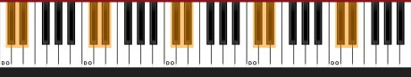 Clavier piano note Do
